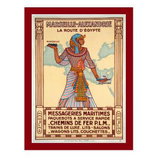 Vintages Frankreich zum Ägypten-Reise-Plakat Postkarte