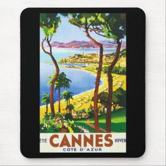 Vintages Franzose-Reise-Plakat Cannes Cote d'Azur Mousepads