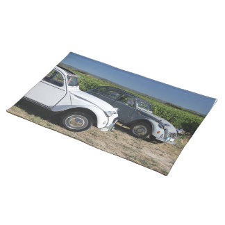 Vintages französisches Auto Stofftischset