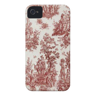 Vintages französisches Land rotes Toile BlackBerry iPhone 4 Case-Mate Hülle