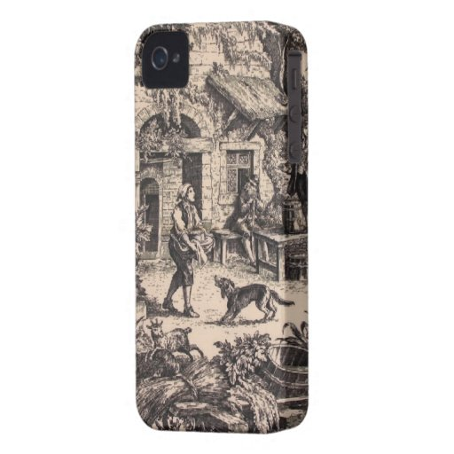Vintages französisches Land Toile BlackBerry iPhone 4 Cover