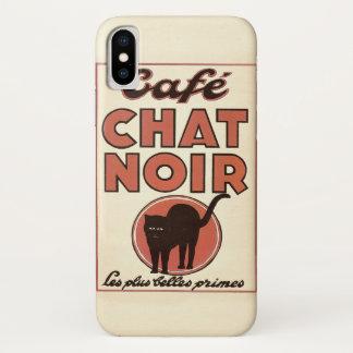 """Vintages französisches Plakat """"Café Chat noir """" iPhone X Hülle"""
