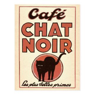 """Vintages französisches Plakat """"Café Chat noir """" Postkarte"""