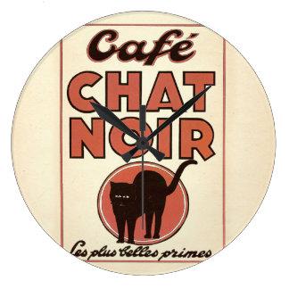 """Vintages französisches Plakat """"Café Chat noir """" Uhr"""