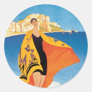 Vintages französisches Riviera-Bild Stickers