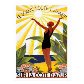 Vintages französisches Riviera, Frankreich - Postkarte