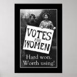 Vintages Frauen-Abstimmungs-Plakat