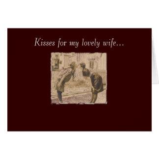 Vintages Frauenküssen Grußkarte