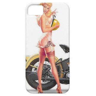 Vintages freches Sexie Button herauf Mädchen iPhone 5 Etuis