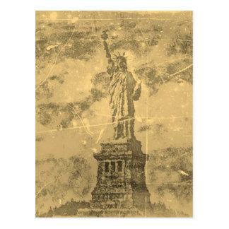 Vintages Freiheitsstatue New York #2 - Postkarten