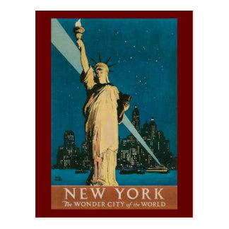Vintages Freiheitsstatue Postkarte
