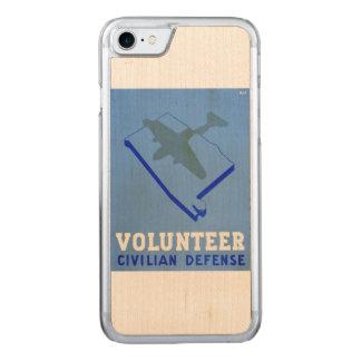 Vintages freiwilliges Zivilplakat der Carved iPhone 8/7 Hülle