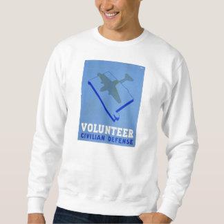 Vintages freiwilliges Zivilplakat der Sweatshirt