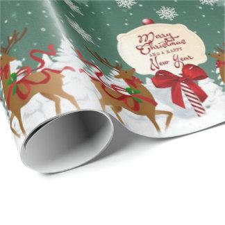 Vintages frohe Weihnacht-Verpackungs-Papier Geschenkpapier