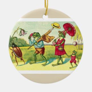 Vintages Frosch-Nr. 2 Keramik Ornament