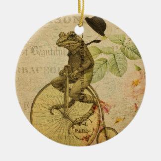 Vintages Frosch-Nr. 4 Keramik Ornament