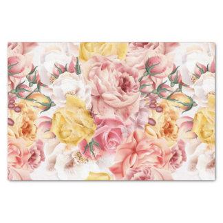 Vintages Frühlingsblumenblumenstrauß Grungemuster Seidenpapier