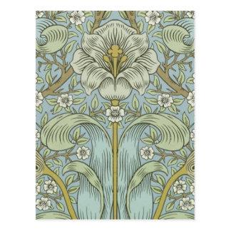 Vintages Frühlingsdickicht BlumenDesig Williams Postkarte