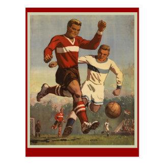 Vintages Fußballfußballplakat Postkarten