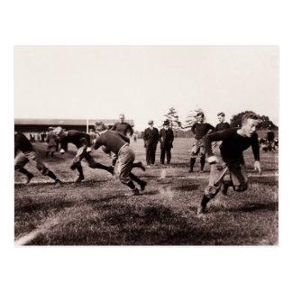 Vintages Fußballspiel Postkarte