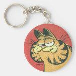 Vintages Garfield, keychain Standard Runder Schlüsselanhänger