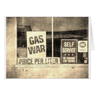 Vintages Gas-Kriegs-Zeichen Karte