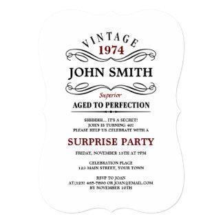 Vintages gealtert zum Perfektions-lustigen 12,7 X 17,8 Cm Einladungskarte