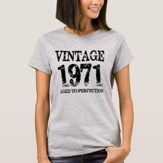 Vintages Geburts-Jahr 1971 gealtert zum T-Shirt