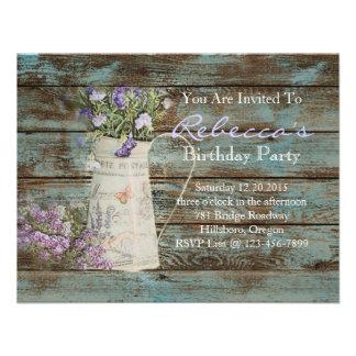 Vintages Geburtstags-Party des eleganten Personalisierte Ankündigungskarte