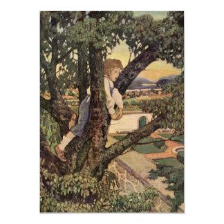 Vintages Gedicht, fremdes Land durch Jessie 12,7 X 17,8 Cm Einladungskarte