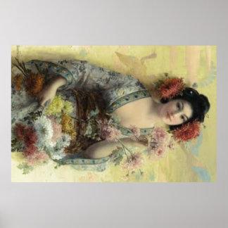 Vintages Geisha-Plakat Poster