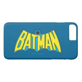 Vintages gelbes blaues Logo 2 des Batman-| iPhone 8 Plus/7 Plus Hülle