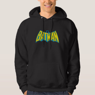 Vintages gelbes blaues Logo des Batman-| Hoodie
