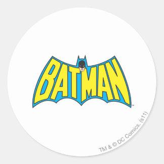 Vintages gelbes blaues Logo des Batman-| Runder Aufkleber