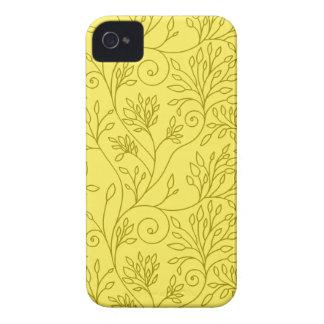 Vintages gelbes mit BlumenBlackBerry-mutiger iPhone 4 Case-Mate Hüllen
