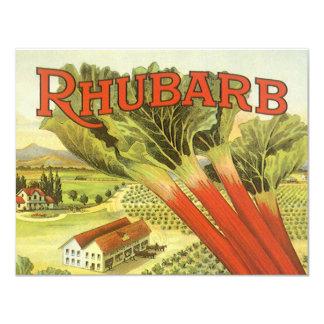 Vintages Gemüse kann Kunst, Rhabarber-Bauernhof Karte