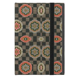 Vintages geometrisches Blumen auf Karos Hülle Fürs iPad Mini