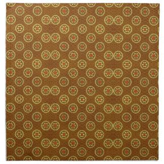 Vintages geometrisches Blumen im Gold Stoffserviette