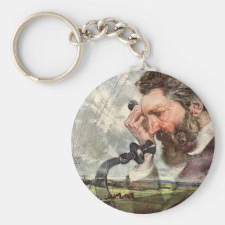 Vintages Geschäft, Alexander- Graham Belltelefon Schlüsselanhänger