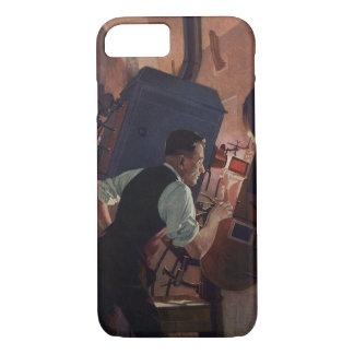 Vintages Geschäft, Film-Theater-Filmvorführer iPhone 8/7 Hülle