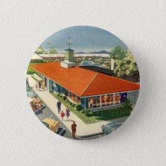 Vintages Geschäft, Kunden an einem Runder Button 5,1 Cm