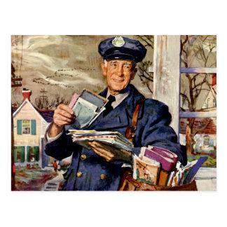 Vintages Geschäft, Mailman-Post, die Buchstaben Postkarten