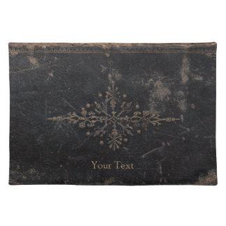 Vintages getragenes ledernes Buch Tischset