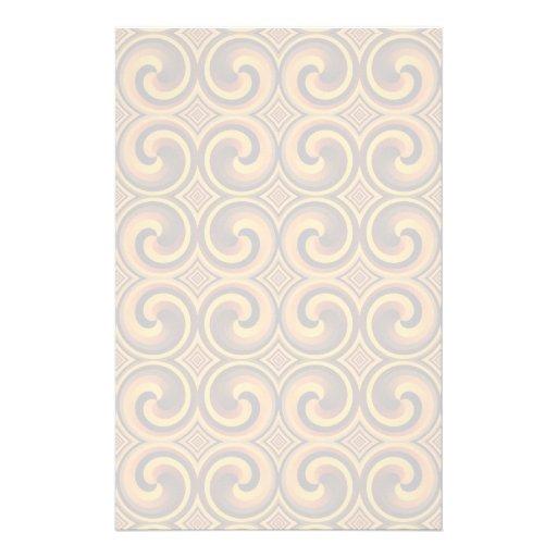 Vintages gewundenes Muster Briefpapier Individuelle Büropapiere