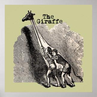 Vintages Giraffen-Kostüm Poster