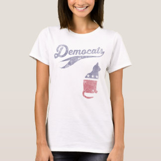 Vintages Girly Democats lustiges politisches T-Shirt
