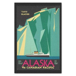 Vintages Gletscher-Kreuzfahrt-Schiff Reise-Alaskas Seidenpapier