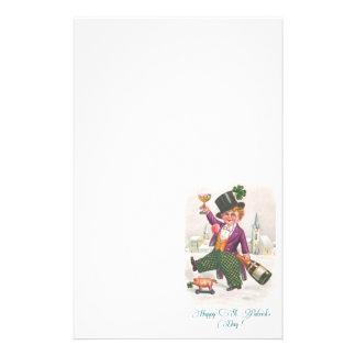 Vintages glückliches Kleeblatt Champagne St. Briefpapier