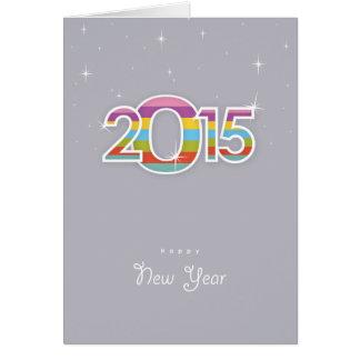 Vintages glückliches neues Jahr 2015 Karte