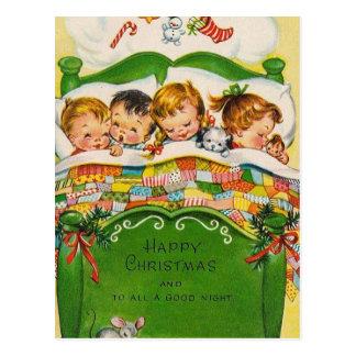 Vintages glückliches Weihnachten Postkarten